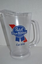 PBR Pabst Blue Ribbon Clear Beer Plastic Pitcher 48 oz Barware Party dri... - $9.89