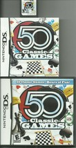 Nintendo DS 50 Classic Games (Board Card Puzzles) Chess Checkers Black J... - $7.64