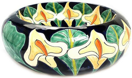 "Mexican Ceramic Bathroom Sink ""Calla Lily"" - $260.00"
