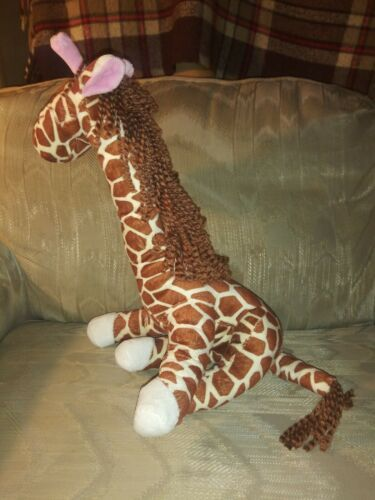 "Primary image for Goffa Posable Giraffe Plush 16"" Adjustable Legs Neck & Tail Yarn Mane Stuffed..."