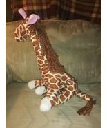 "Goffa Posable Giraffe Plush 16"" Adjustable Legs Neck & Tail Yarn Mane St... - $29.69"