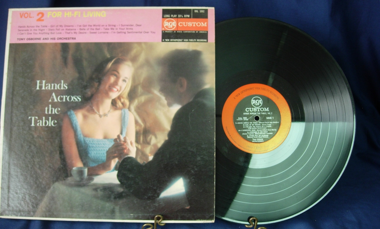 Tony Osborne and His Orchestra - Hands Across the Table - RCA Custom RAL 1002
