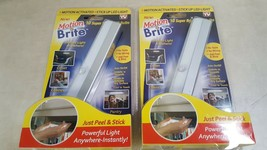 Lot of 2 Motion Bright, Motion Activated Stick Up LED Light - $17.34