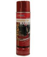 Red Marking Paint 17 oz. Water Based Formula Safe For Grass APWA VOC Com... - $16.99