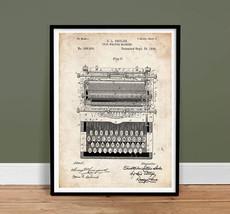 TYPEWRITER VINTAGE TYPE WRITER SHOLES PATENT PRINT 18X24 POSTER 1896 (un... - $19.75