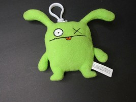 "Pretty Ugly Doll OX 4"" Plush keychain Green Monster 2003 UglyDoll Monster  - $10.88"