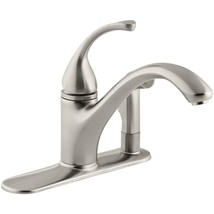 KOHLER Basic Kitchen Faucet Single-Handle Side Sprayer Vibrant Brushed Nickel - $199.27