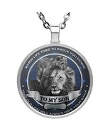 Personalized To My Son Necklace Jewelry - This Old Lion Will Always Have... - $24.70