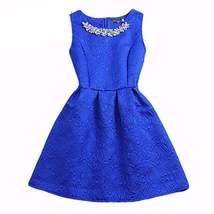 Elegant Floral Crochet Pleated Women Mini Dress - $21.98