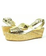 Rafe NY Elisha Gold Patent Snake Platform Espadrille Sandals 10 NWOB NEW... - $74.30