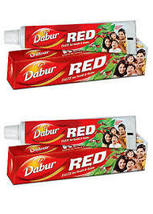 2 Tubes Dabur Red Herbal Toothpaste 400gm Clove & Mint - $12.95