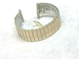VINTAGE WATCH BAND 16MM TO 20MM LUGS APEX USA GOLD TONE - $16.31