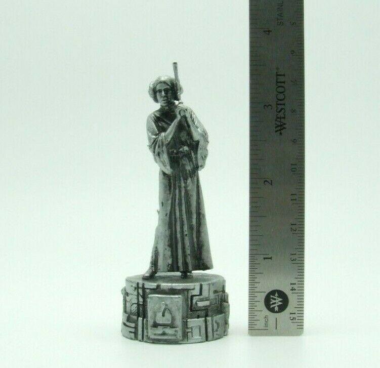 Star Wars Saga Edition Silver Princess Leia Bishop Chess Replacement Game Piece image 2