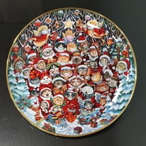 Franklin Mint Santa Claws Christmas Cats Kittens Collector Plate Bill Be... - $11.97