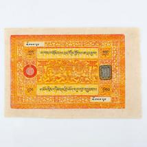 1942-1959 Tibet 100 Srang Nota XF Errore Invertito Sigillare Timbro Raro... - $1,187.96