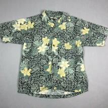 Tommy Bahama Shirt Mens Medium Hawaiian Short Sleeve Button Up Camp Silk Floral - $19.59