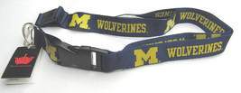 Ncaa Nwt Keychain Lanyard - Michigan Wolverines - Logo With Thick Name - $7.95