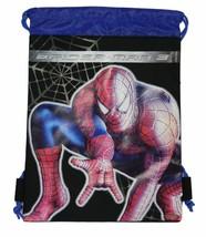 Spiderman 3 Black Drawstring Bag Backpack Travel String Pouch Marvel COMICS-NEW - $8.90
