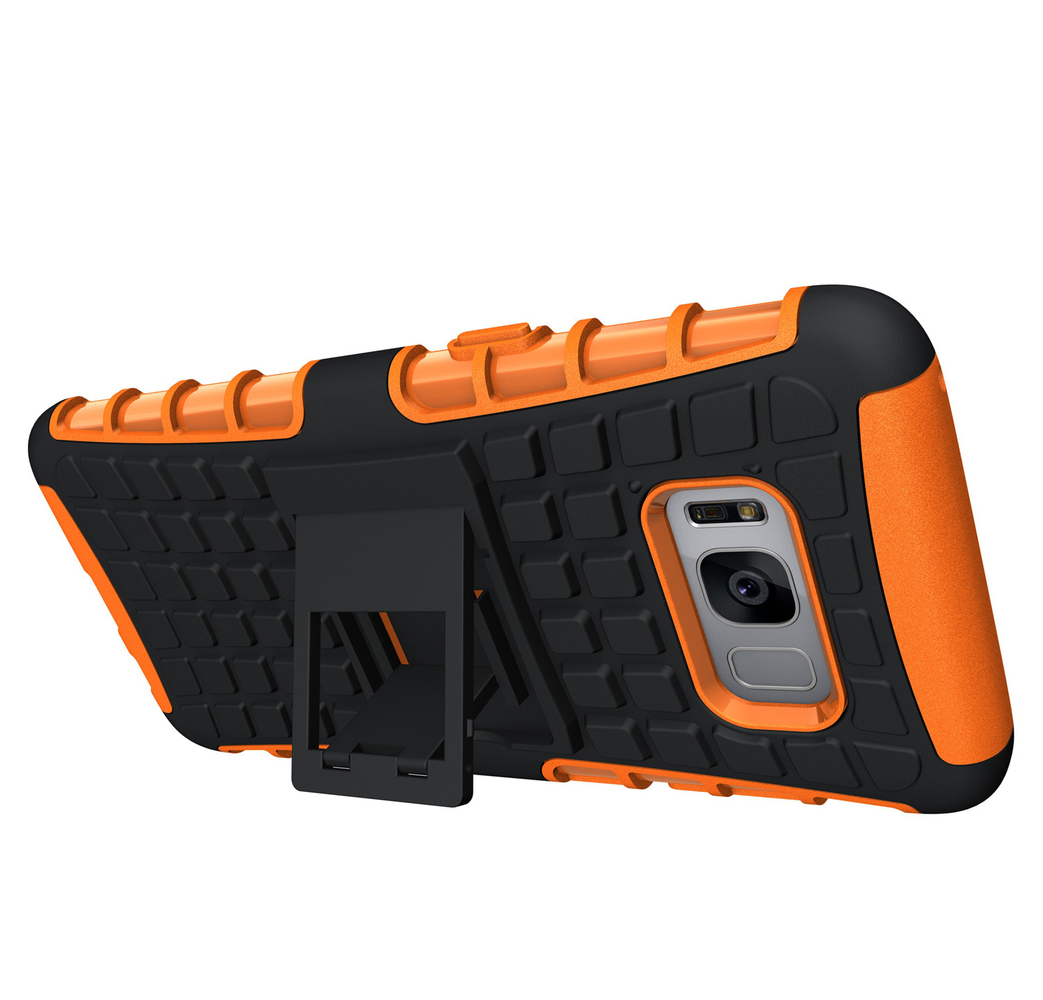 ShockProof Hybrid Defender Kickstand Case Cover For Samsung Galaxy S8 - Orange