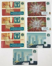 STARBUCKS ITunes Plus, City Scape and Fall Gift Cards No Value (Qty 7) - $14.95