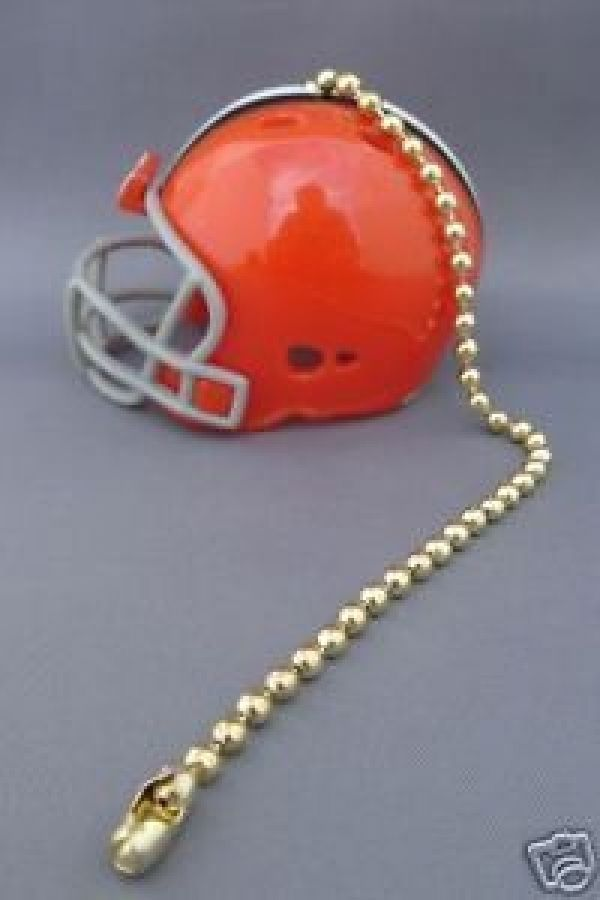 2 CLEVELAND BROWNS CEILING FAN LIGHT PULL & CHAIN NFL FOOTBALL HELMETS