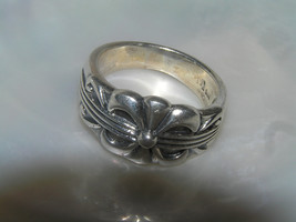 Estate 925 Sterling Silver Hallmarked 3 Stripes with Abstract Ribbon Bow... - $27.94