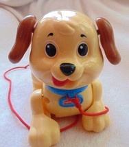 Vintage Fisher-Price Hard Plastic Pull Behind Puppy on String Dog Toy 2005 EUC - $12.86