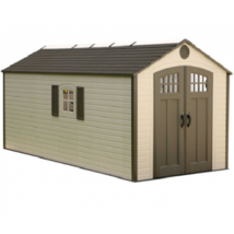 Lifetime Sheds 8x17.5 Plastic Storage Shed w/ 2 Windows [60121] - $2,130.60