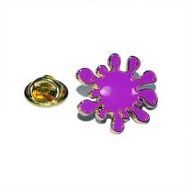 purple splat tie pin, Lapel Pin Badge, in gift box detailed design