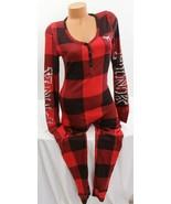 Victorias Secret sz L ~Pink~ Bling Long Jane thermal pajama Red Plaid on... - $128.21