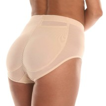Women's Fullness Silicone Buttocks Butt Shaper Lifter Panty Beige #7010