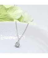 10k White Gold 1/3 CT Lab Grown Diamond pendant Necklace IGI certified f... - $475.00