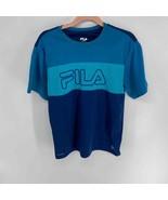Fila blue logo striped athletic t-shirt Youth XL - $10.00