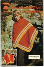 Vtg Patons Shawls Ponchos Stoles Lacy Mohair Mexicana Crochet Knit Patterns - $12.99
