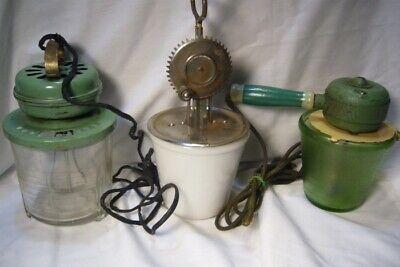 3 Vintage Hand Mixer A&J, VIDRIO, Knapp Monarch Co.