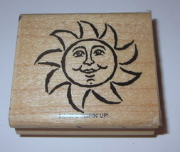 Sun Stampin' Up! Rubber Stamp Smiling Retired 2000 Summer Weather Wood Mtd #2 - $5.44