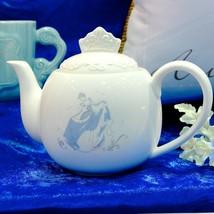Disney Princess Cinderella Tea Pot Glass shoes White Coffee pot Japan Tableware - $62.37