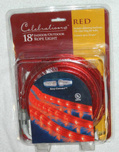 New Celebrations Brand 18 Ft / Connectable Red Rope Lights / not LED - €18,02 EUR