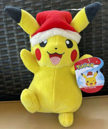 New with Tags WCT Pokémon Pikachu-Santa Hat Christmas Edition-Red and Ye... - $17.99