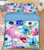 3D Flowers 324 Bed Pillowcases Quilt Duvet Cover Set Single Queen King Size AU - $90.04+