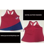 Soybu Active Fashion Top Work Out Sz 3X PInk & Blue - $16.99