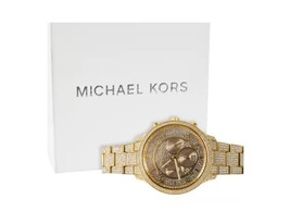 Authentic MK Michael Kors Bling Ladies Watch - Gold-Tone Stainless Steel - $349.99