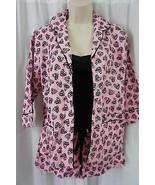 Jenni by Jennifer Moore Pajamas Sz S Pink Black Zebra Hearts 3 Piece Sle... - €17,73 EUR