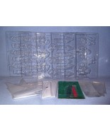 Wilton 5 Lollypop Sucker Molds 1 Candy Mold Trees Santas Snowmen Sticks ... - $14.99