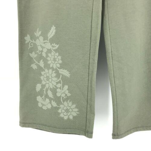 Sundance Größe M Jogginghose Weites Bein Olivgrün Blumenmuster Anziehen image 4