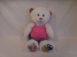 "Build a Bear 16"" Plush Sketchers Twinkle Toes Bear With Heart Sing under the sea - $19.02"
