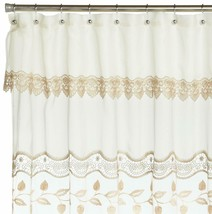 Seville Embroidered Shower Curtain, Ecru, by Lorraine Home Fashions - $19.99