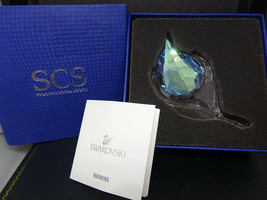 Swarovski Scs Event Piece 2015 Peacock Feather 5063697 Mint In Box w/ Coa - $75.95