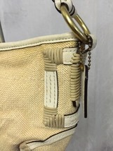 Coach L053-4071 Women's Handbag Angora Beige Straw Leather Trim Braided ... - $38.61