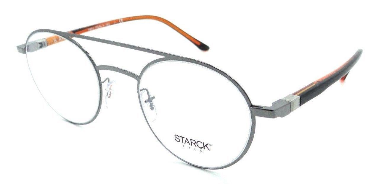 Starck Eyes Mikli Rx Eyeglasses Frames SH2029 0006 49x21 Shiny Gunmetal Italy - $103.41